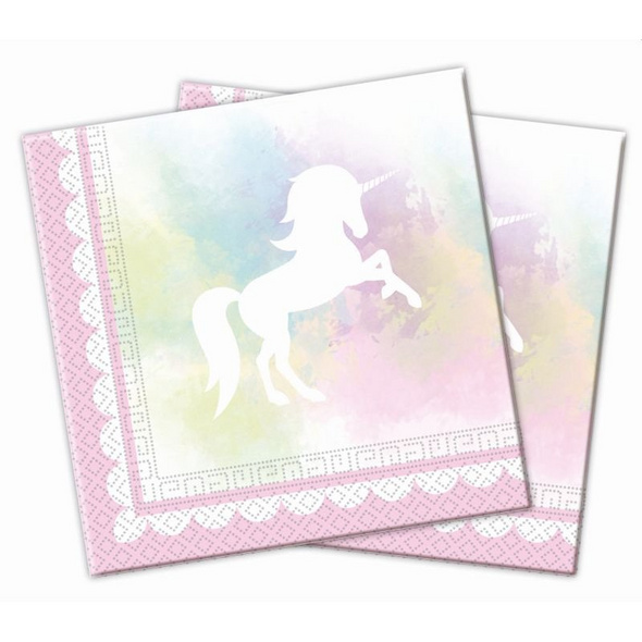 Believe In Unicorns 20 Two-Ply Paper Napkins 33x33cm