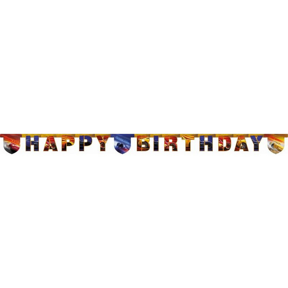 Cars The Legend Of The Track 1 Happy Birthday Die-Cut Banner