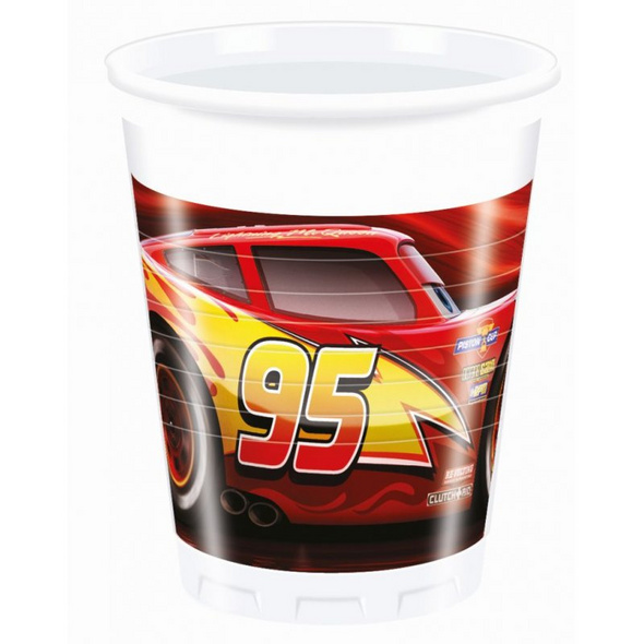 Cars The Legend Of The Track 8 Plastic Cups 200ml