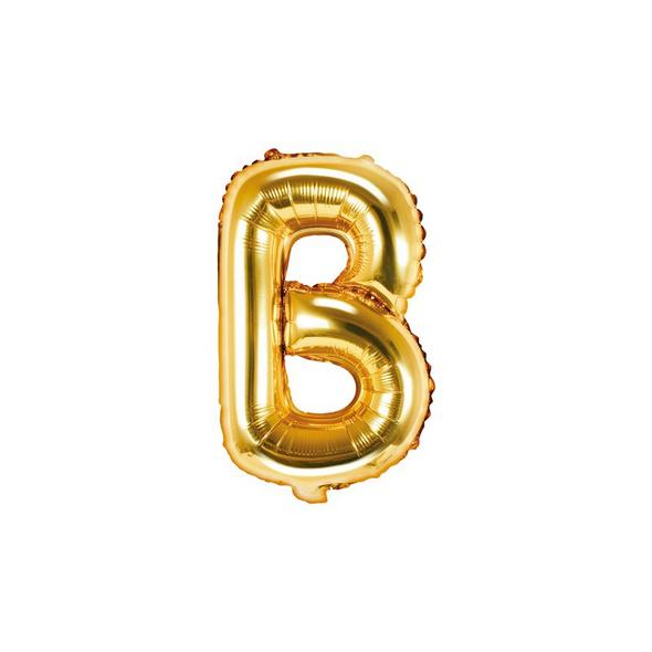 Folienballon Buchstabe B 35cm gold metallic