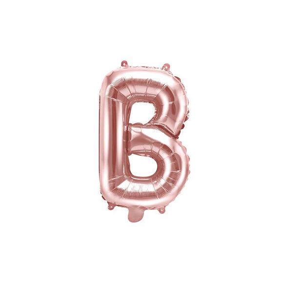 Folienballon Buchstabe B 35cm rosé-gold metallic
