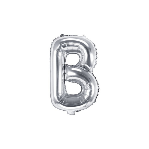 Folienballon Buchstabe B 35cm silber metallic