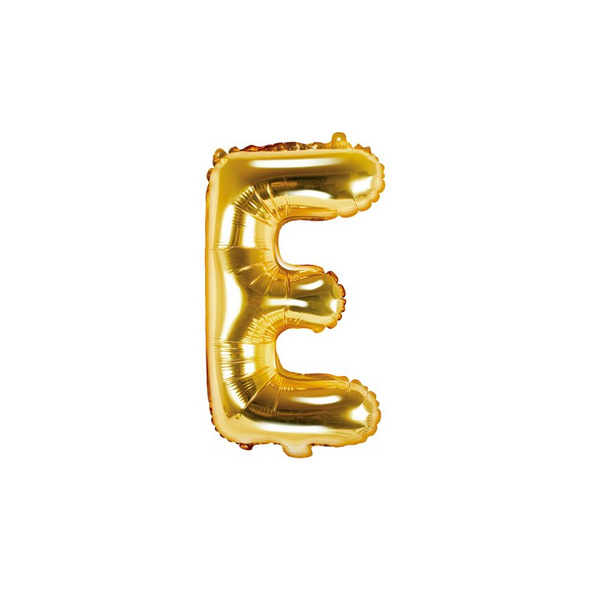 Folienballon Buchstabe E 35cm gold metallic