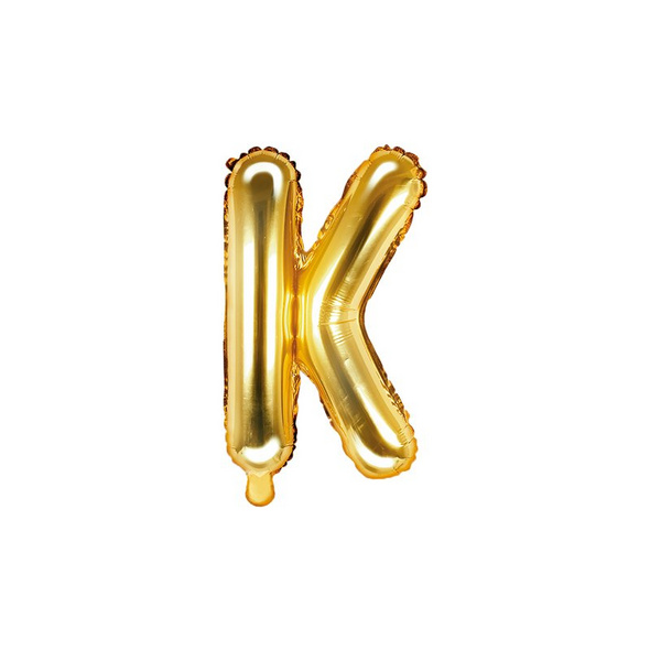 Folienballon Buchstabe K 35cm gold metallic