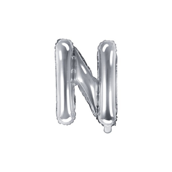 Folienballon Buchstabe N 35cm silber metallic