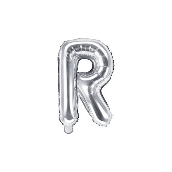 Folienballon Buchstabe R 35cm silber metallic
