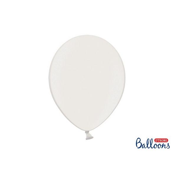 Latexballons 100er Pack metallic weiss 30cm