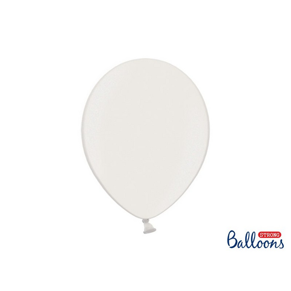 Latexballons 10er Pack metalic weiss 30cm