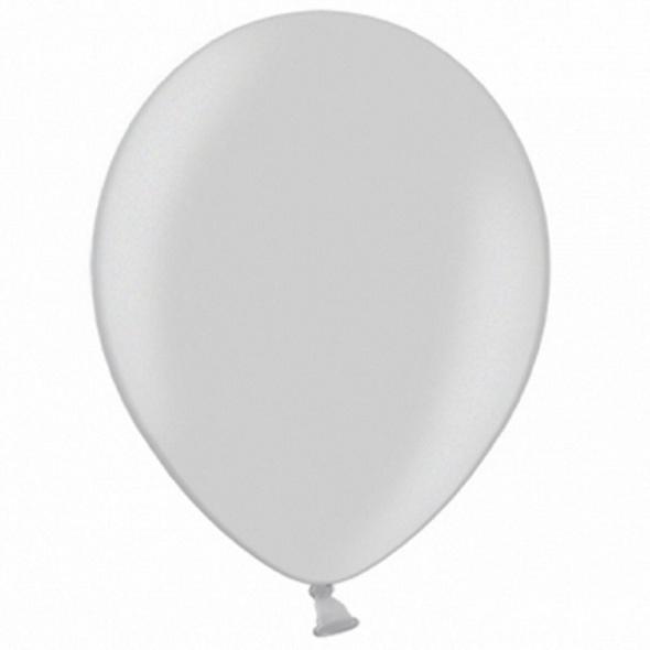 Latexballons 10er Pack silber-metallic Schnee 30cm