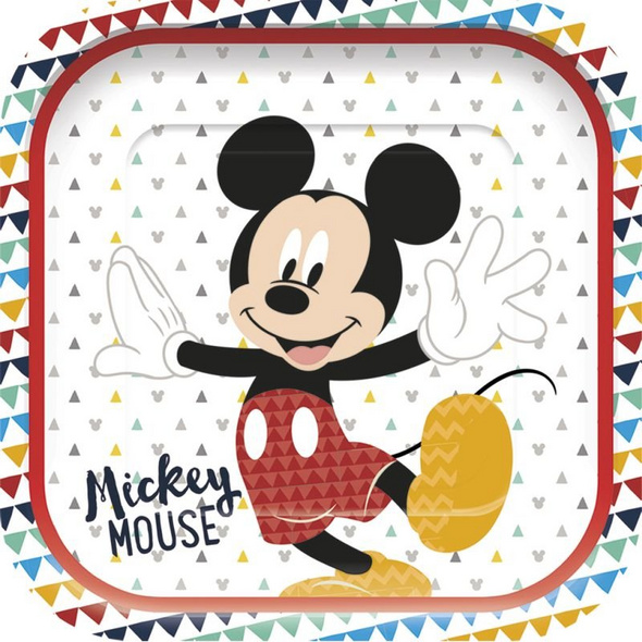 Mickey Awesome Mouse Premium Square paper plates