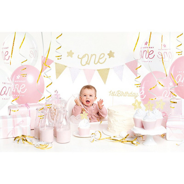 Party decorations set - 1st Birthday. gold