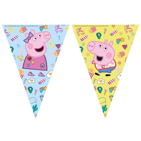 Peppa Pig Messy play 1 Triangle Flag banners