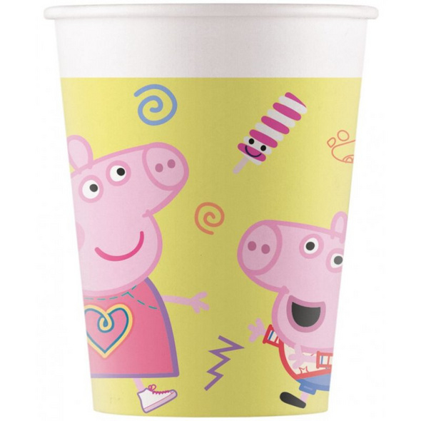 Peppa Pig Messy play 8 Paper Cups 200ml