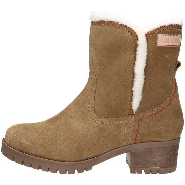 Winter Boot aus braunem Veloursleder