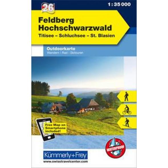 KuF Deutschland Outdoorkarte 26 Feldberg - Hochschwarzwald 1 : 35.000