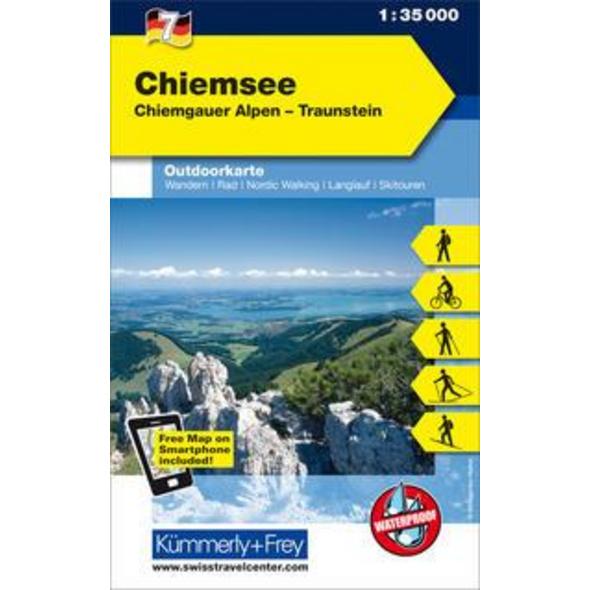 KuF Deutschland Outdoorkarte 07. Chiemsee  1 : 35.000