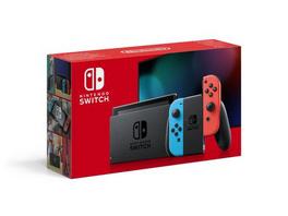 Nintendo Switch Konsole mit verbesserter Akkuleistung blau / rot