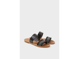 Sandalen - Lederimitat - Glanz-Effekt